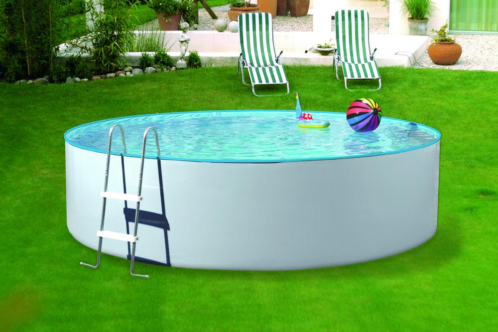 Schwimmbecken splash stahlwandbecken 3 60 x 1 10m for Pool rund 3 60