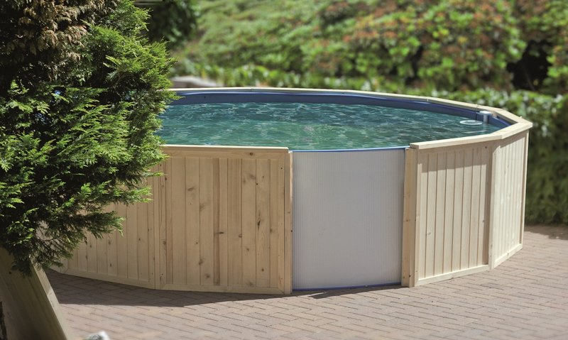 holzumrandung f r stahlwandbecken 4 00x1 20m holzverkleidung pool verkleidung ebay. Black Bedroom Furniture Sets. Home Design Ideas