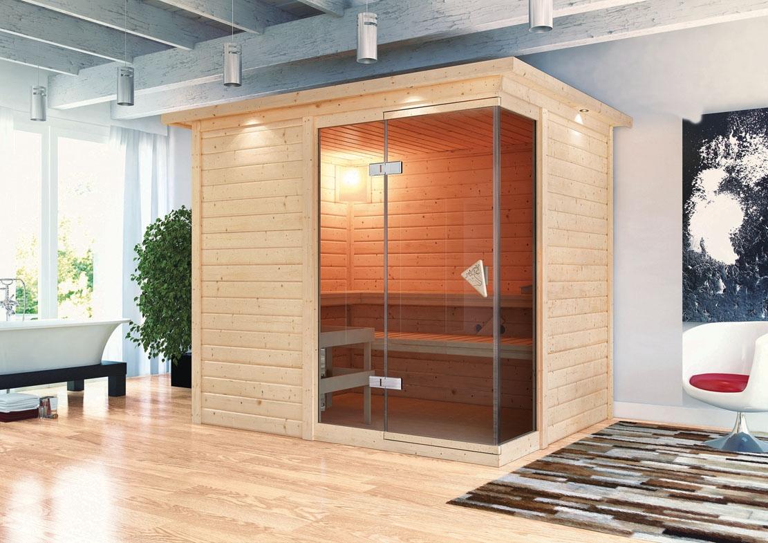 sauna heimsauna massivholz fronteinstieg 236 x 184 x 208. Black Bedroom Furniture Sets. Home Design Ideas