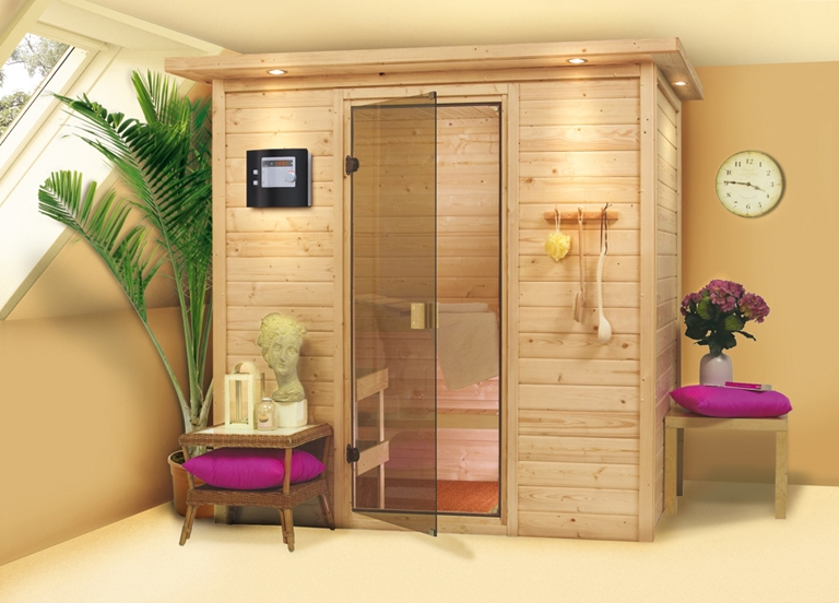 sauna heimsauna systemsauna fronteinstieg 196 x 146 x 198cm plug and play karibu ebay. Black Bedroom Furniture Sets. Home Design Ideas