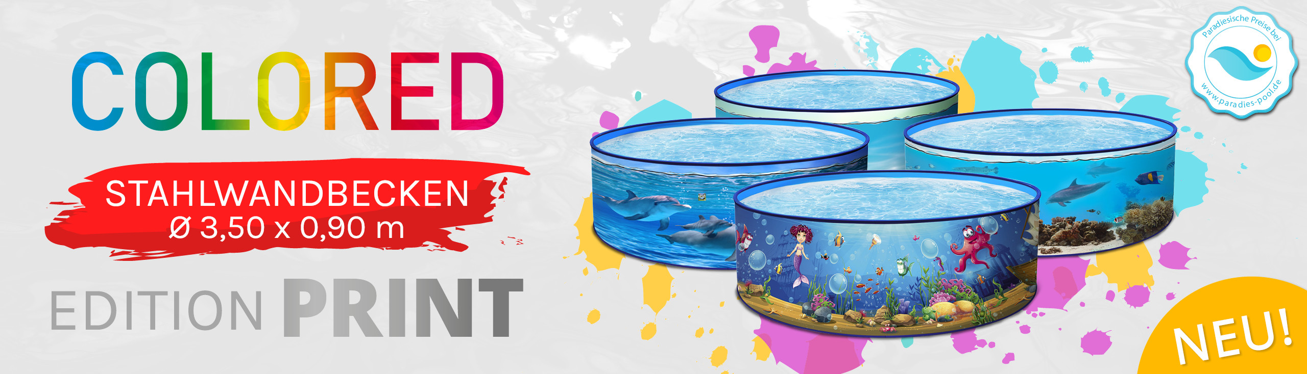 Edition Colored Pools bei Paradies Pool