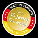 Abb. Siegel Made in Germany - bis zu 10 Jahre Garantie
